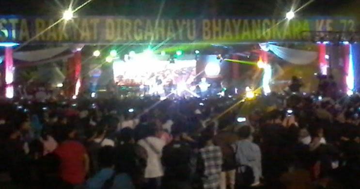 Pesta Rakyat HUT Bhayangkara ke-73, Ribuan Warga Banten Tumpah Ruah di Alun-alun Barat Kota ...