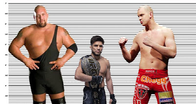 Henry Cejudo height comparison with Big Show and Stefan Struve
