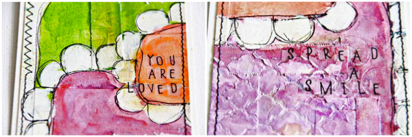 Mixed Media Tutorial | aufgenähte Tags mit Sentiments