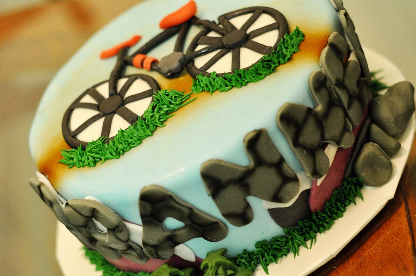 Doodlepie Cakes Mountain Bike Cake