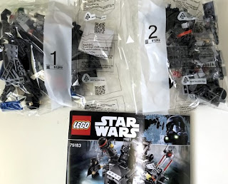 lego star wars 75183 darth vader transformation all pieces in bag and instructions