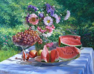 cuadro con melon de agua