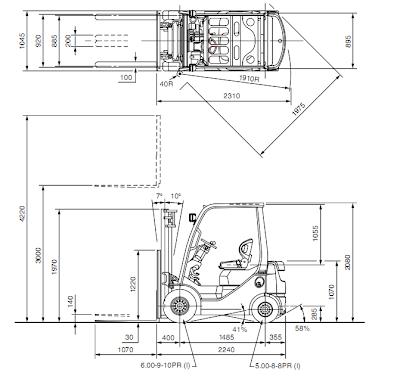 Toyota Forklift 8FD10