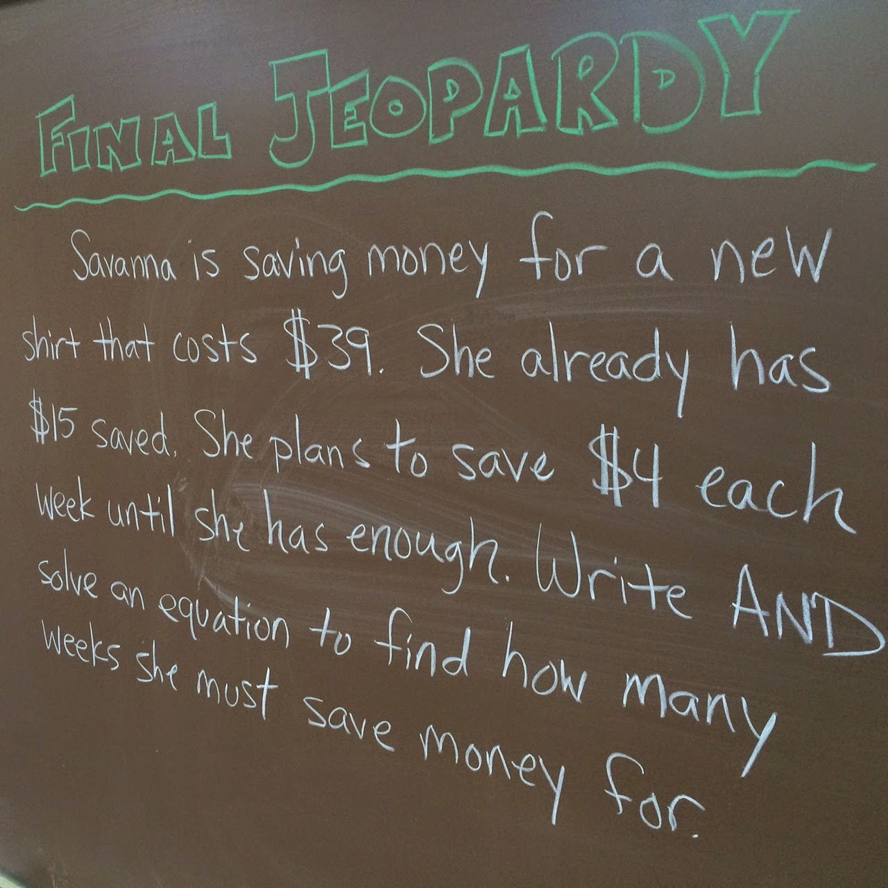 Math Review Jeopardy 6th Grade