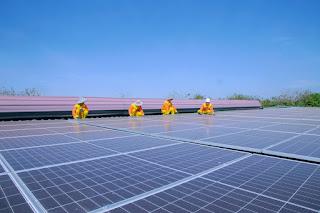 plts, surya, terapung, listrik, panel