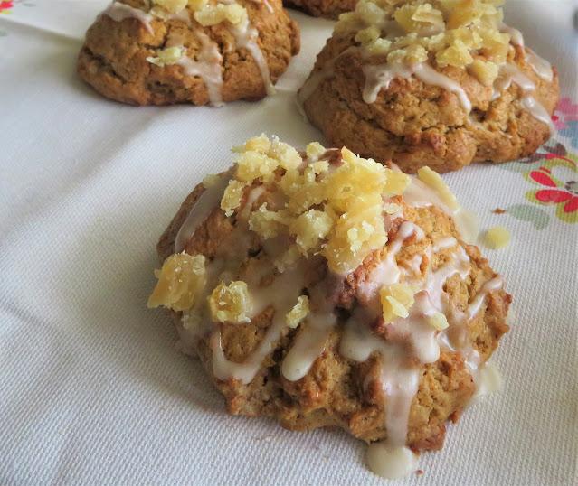 Vanilla Glazed Ginger Scones (small batch)