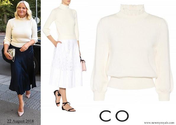 Crown Princess Mette-Marit wore CO Essential wool sweater