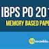IBPS PO Pre Memory Based Paper