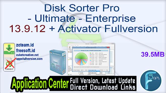 Disk Sorter Pro – Ultimate – Enterprise 13.9.12 + Activator Fullversion