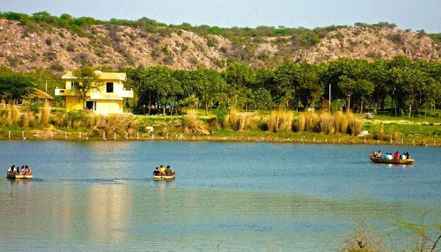 Backdrop Lake Damdama Gurgaon