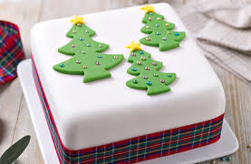 Cake from Christmas and New Year Bakery