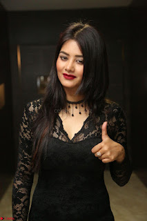 Actress Monica in spicy transparent Black Top at O Pilla Nee Valla Movie Audio Launch Feb 2017 021.JPG