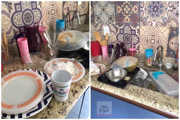 como lavar louça