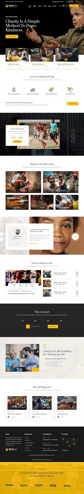 Beautiful Charity & Fundraising Website Template