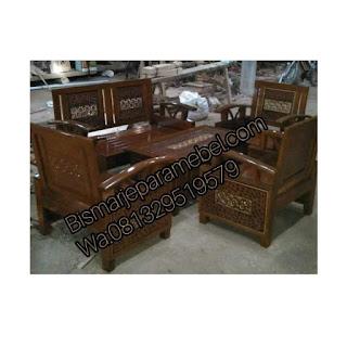 harga jual kursi tamu mnimalis kayu jati terbaru
