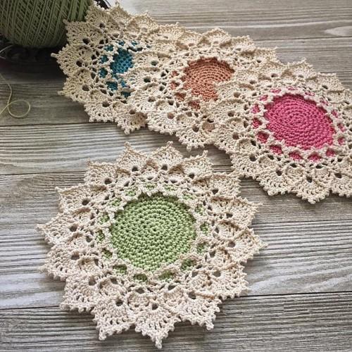 Sunmote Coasters - Free Crochet Pattern