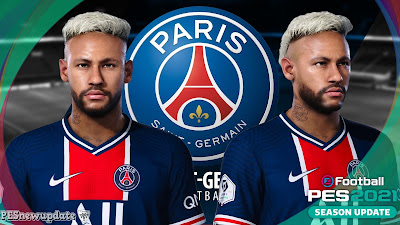 PES 2021 Faces Neymar Jr (Blonde + Tattoo)