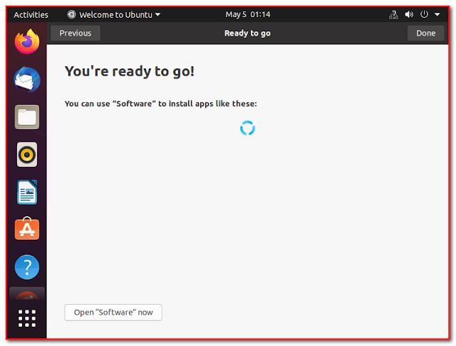 Ubuntu ready to go