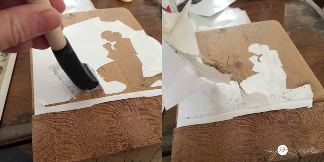 How to stencil with contact paper
