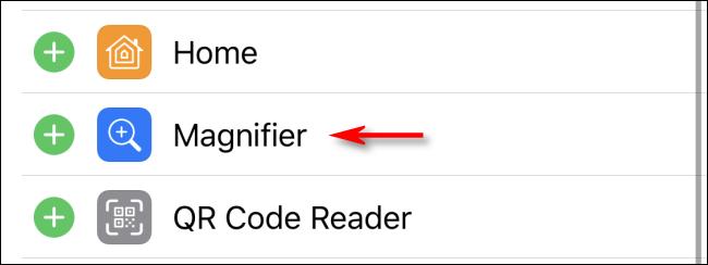 أضف اختصار المكبر إلى مركز التحكم على iPhone