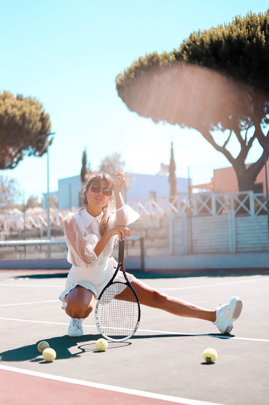 A vida é como um jogo de tenis