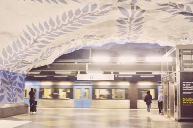 Best Stockholm Instagram Spots - subway art T-Centralen
