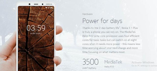 Nokia 3.1 Plus Smartphone
