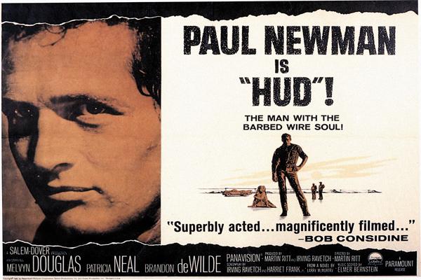 """hud"""", martin ritt, un realizador siempre sólido y comprometido."""