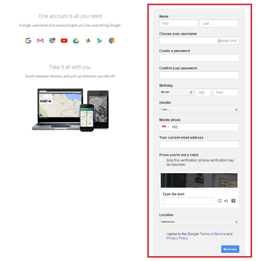 Cara Membuat Email Google atau Gmail - Dibacaonline