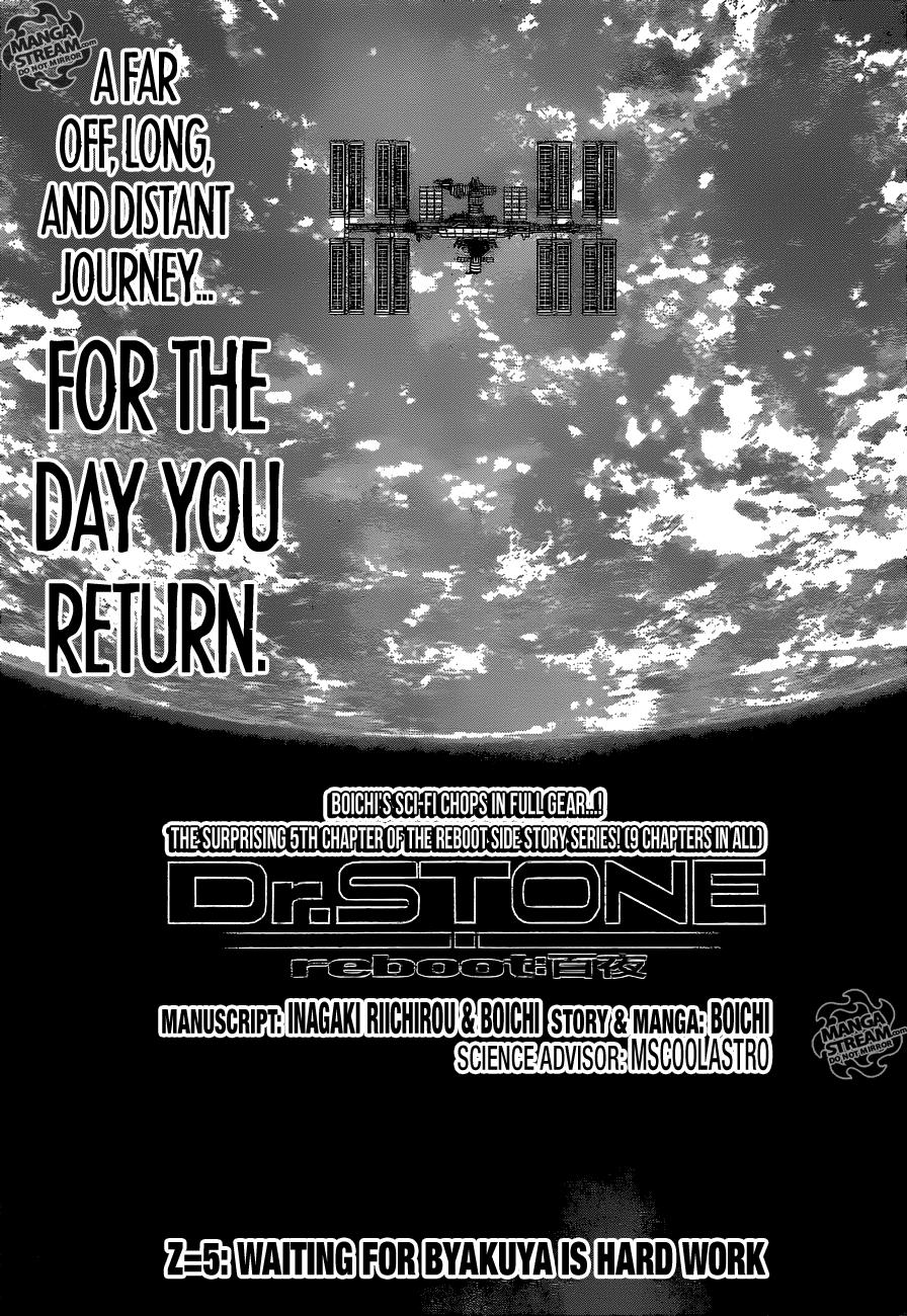 Dr.Stone reboot: Byakuya 5-ENG-[ENG] Waiting for Byakuya is Hard Work