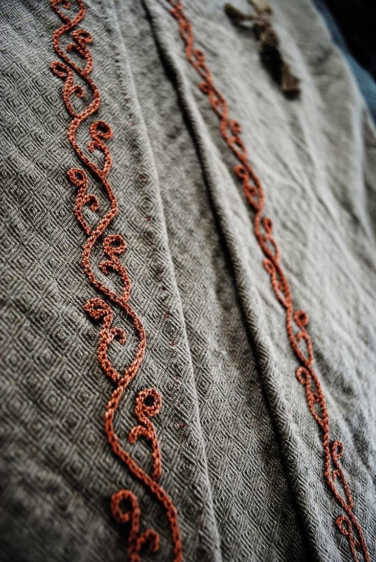 I love historical clothing viking embroidery