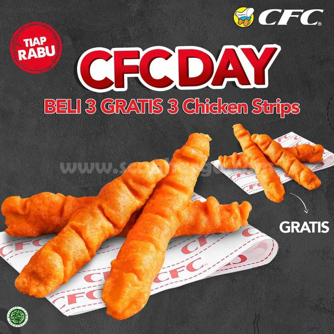 Promo CFC DAY Tiap RABU - Beli 3 Gratis 3 Chicken Strips