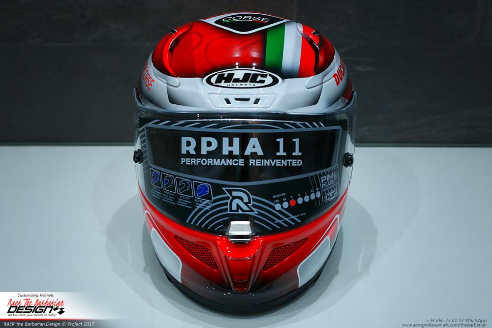 "Racing Helmets Garage: HJC R-PHA11 ""Ducati Corse"" by RAER The Barbarian"