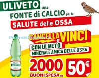 Logo Uliveto ''Cancella e vinci 2020'': in palio 2000 buoni spesa da 50€