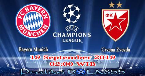 Prediksi Bola855 Bayern Munich vs FK Crvena zvezda 19 September 2019