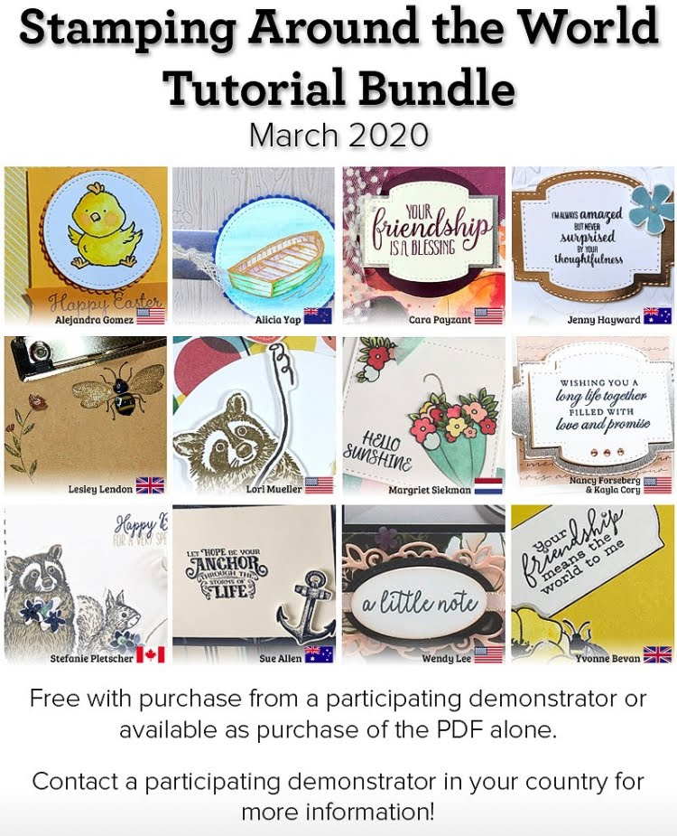 Stamping Around the World tutorial bundle