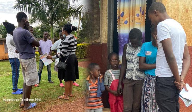 Evangelismo de puerta en puerta en Uganda
