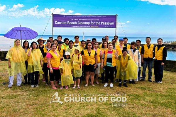 Carrum Beach Cleanup for the Passover at Carrum Beach, VIC