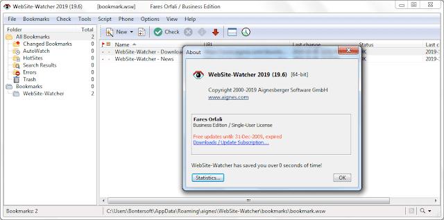 Screenshot WebSite-Watcher 2019 v19.6 Business Edition Full Version