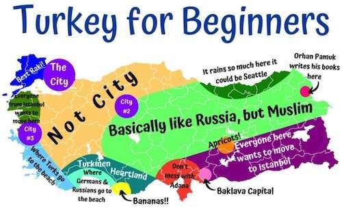 Amerikalılara Türkiye'yi Anlatan Haritalardan Birisi