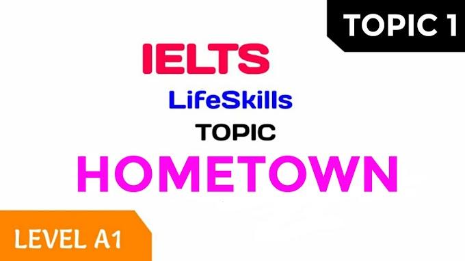 IELTS LIFE SKILLS A1 TOPICS (PDF)