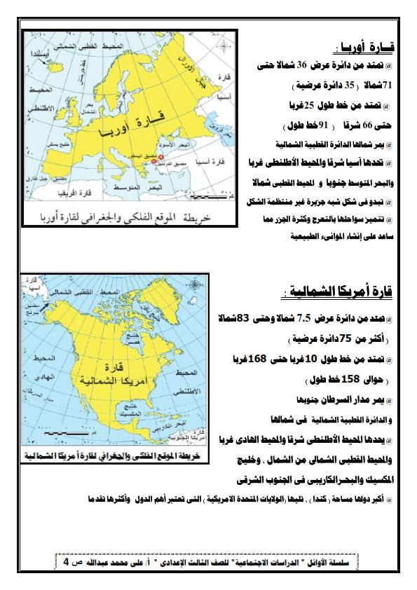 تلخيص الوحدة الأولى دراسات للصف الثالث الاعدادي ترم أول أ/ على محمد عبد الله 0%2B%25283%2529