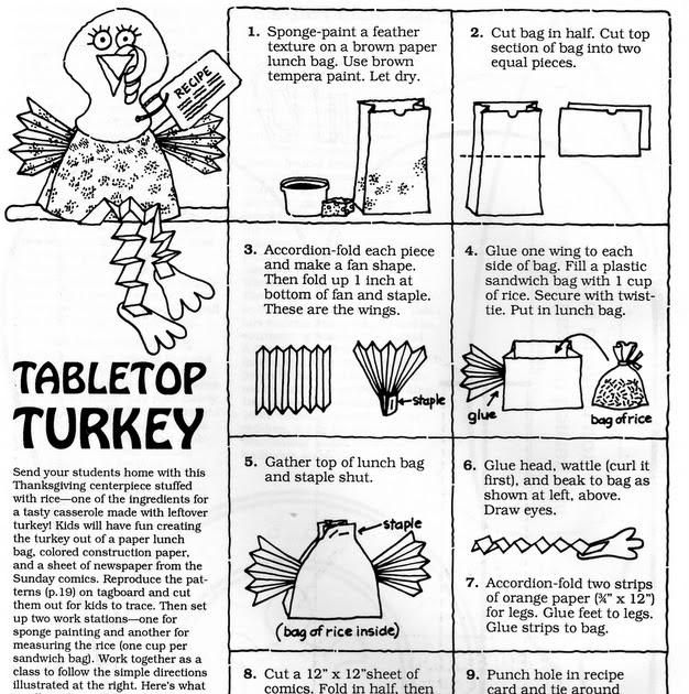 ELEMENTARY SCHOOL ENRICHMENT ACTIVITIES: TABLETOP TURKEY