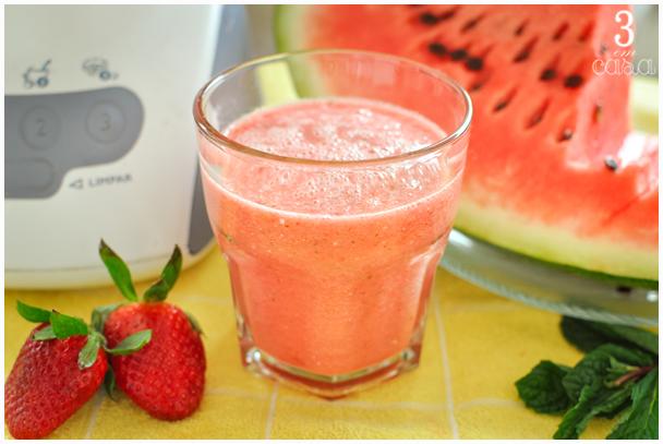 receita suco de mealncia com morango