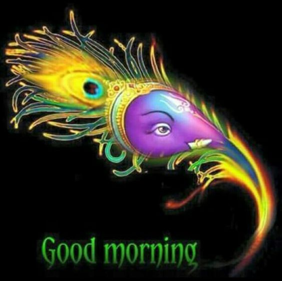 Beautiful Good Morning Ganesha Image