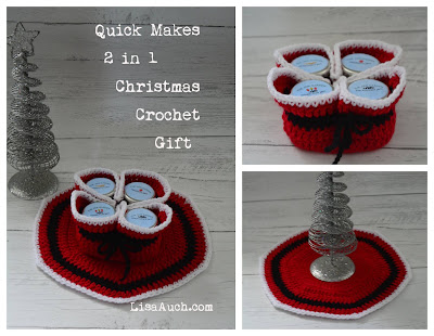 Christmas Crochet Gift Idea (Free Xmas Table decoration Crochet Pot Holder Pattern)