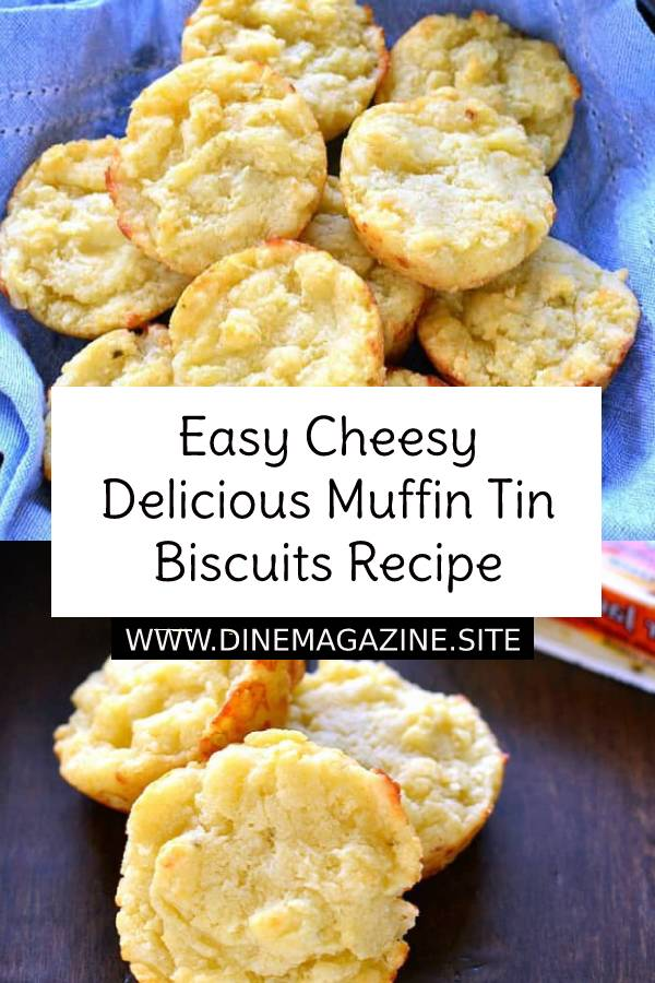 Easy Cheesy Delicious Muffin Tin Biscuits are rich, buttery, and loaded with the delicious flavor of pepper jack cheese. They come together in 5 minutes or less and make the perfect addition to your holiday table! #easymuffins #biscuits #breakfast #easybreakfast #breakfastrecipe #muffinsrecipe #biscuitsrecipe #dessert #cheesy #cheesymuffins