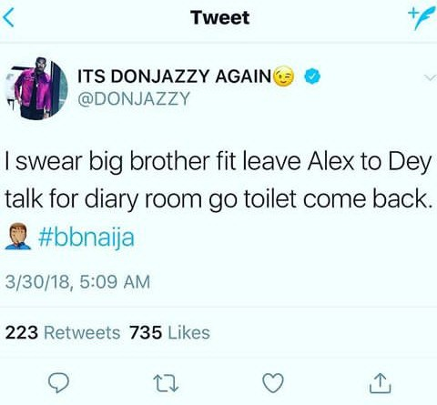 Don Jazzy Talks About Alex Diary Session