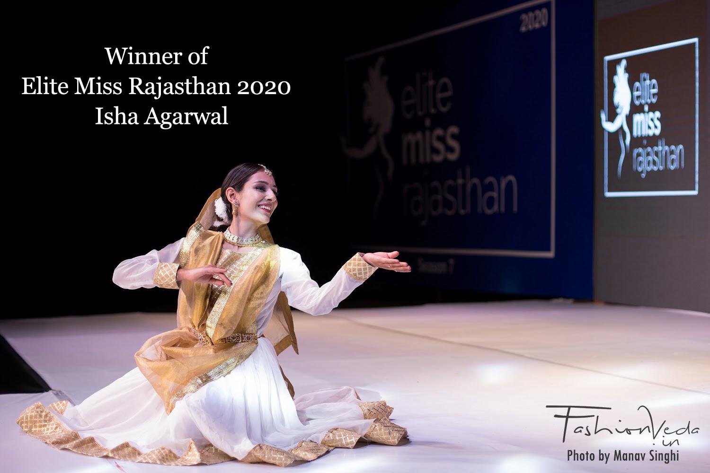 Winner of Elite Miss Rajasthan 2020 - Isha Agarwal