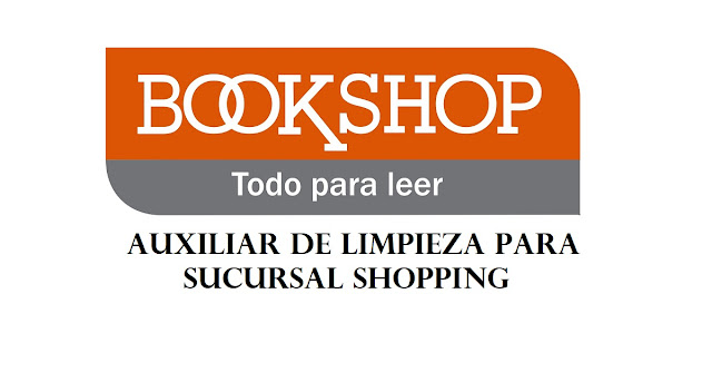 BookShop - Auxiliar de limpieza para sucursal Shopping